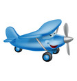 cute airplane cartoon character vector image vector image