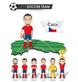 czech republic national soccer cup team football vector image vector image