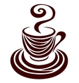 Decorative silhouette of a cup vector image