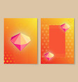 diamond on orange cover set vector image