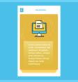 document downloading mobile vertical banner vector image