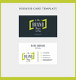 double-sided vintage business card template with vector image vector image