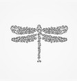dragonfly from decorative ornate ornaments and vector image