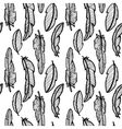 eamless pattern with feathers vector image