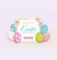 easter sale banner with text eggs and flowers vector image vector image