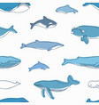 elegant seamless pattern with different aquatic vector image vector image