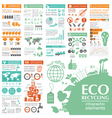 Environment ecology infographic elements vector image vector image