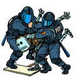 fighting future police arrest a protesting vector image vector image