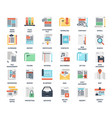 files and documents flat icons vector image vector image