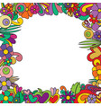 floral frame in tengle pattern style vector image