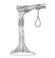 gallows sketch device for hanging for coloring vector image vector image