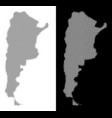 halftone argentina map vector image vector image