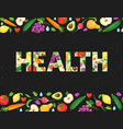health word poster vector image vector image
