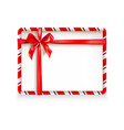 holiday stripe frame-05 vector image vector image