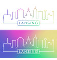 lansing skyline colorful linear style editable vector image vector image
