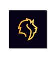 line art lion head logo design with art style vector image vector image