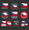 made in czech labels set czechia product emblem vector image vector image