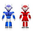 male and female robot a pair of male and female vector image vector image