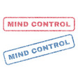 mind control textile stamps vector image vector image