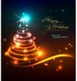 Modern neon Christmas tree vector image vector image