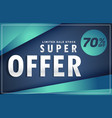 modern offer and sale discount poster voucher vector image vector image