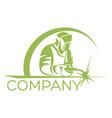 modern welder logo vector image vector image