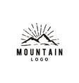 mountain adventure vintage retro hipster logo vector image vector image