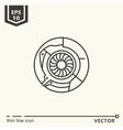 One icon Artificial eye vector image vector image