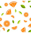 orange lemon on white background seamless vector image vector image