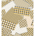 pattern patchwork vector image vector image