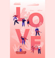 people in love concept happy couples in relations vector image