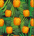 pineapples seamless patter6 vector image vector image