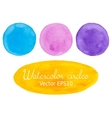 Pink blue yellow and purple watercolor hand vector image