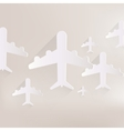 Plane airplane icon vector image vector image
