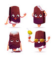 popsicle ice cream character funny eskimo pie vector image