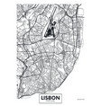 poster map city lisbon vector image vector image