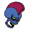print skull vector image