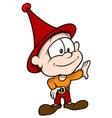 Red Little Elf vector image vector image