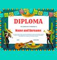 school diploma dia de los muertos skeletons vector image vector image