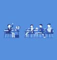 school normal behaviour vector image vector image