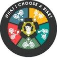 Selecting a Bike vector image vector image