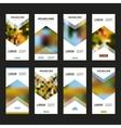 Set flyer blur design template vector image vector image