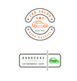 set of car rental service elements can be used vector image vector image