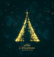 shiny sparkles christmas tree design background vector image vector image