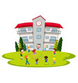 students playing at school vector image vector image