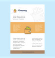 template layout for wallet comany profile annual vector image vector image