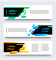 web banner template color abstract modern vector image