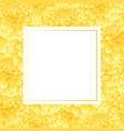 yellow dahlia banner card vector image vector image