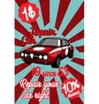 Car repair banner vector image
