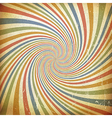 Sunburst colorful vintage background Old paper vector image